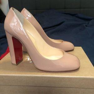 85aea975961f Christian Louboutin Shoes - Christian Louboutin Nude Cadrilla 100 Patent  Pump